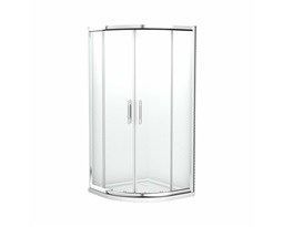 GEO 6 EASY Half-round shower enclosure 90 x 90 cm, Sliding doors