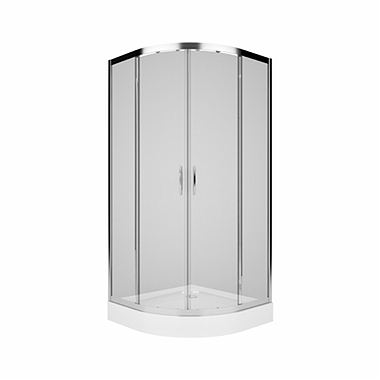 REKORD Half-round shower enclosure 90 x 90 cm, Sliding doors