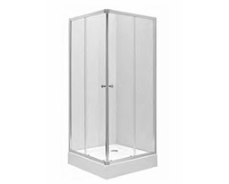 FIRST-Shower-enclosure-set-First-square-corner-shower-enclosure-transparent-glass-with-First-square-shower-tray-80-x-80-cm