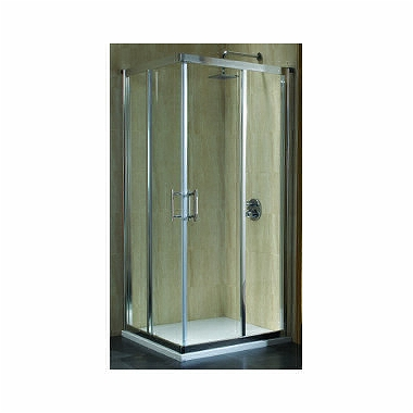 GEO 6 80 Square-corner shower enclosure 80 x 80 cm, sliding doors