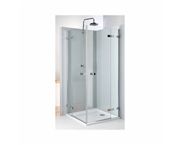 NEXT Square-corner shower enclosure 90 x 90 cm, wing doors