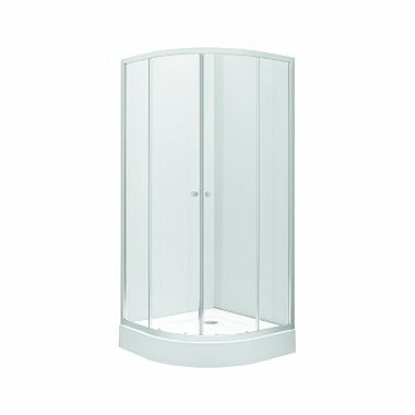 FIRST Half-round shower enclosure 90 x 90 cm, sliding doors, transparent glass