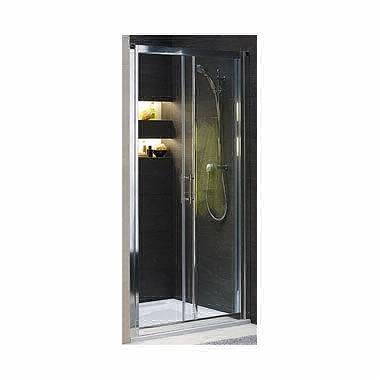 GEO 6 sliding doors 100 cm, tempered glass PRISMATIC, silver glossy