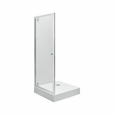 FIRST pivot door 90 cm, satin glass silver glossy