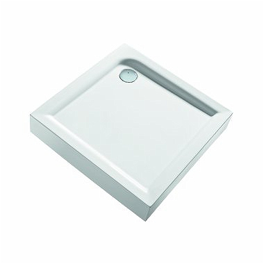 FIRST 90 square shower tray with integrated panel