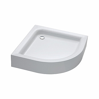 STANDARD PLUS 90 half-round shower tray with integrated panel
