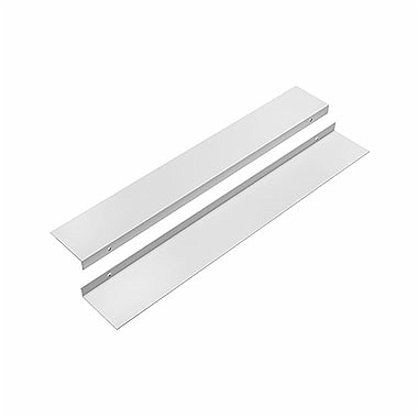 Set of profiles for UNI 2 panels mounting in niche (frontal), Colour: white