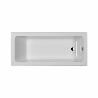 MODO rectangular bathtub 160 x 70 cm, Side outlet + legs SN7