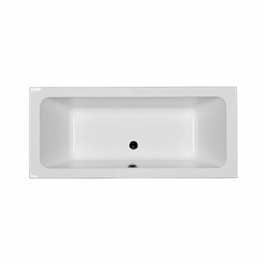 MODO rectangular bathtub 180 x 80 cm, Outlet in the middle + legs SN7