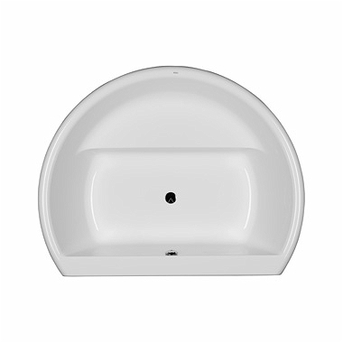 FURORA oval bathtub 165 x 130 cm, with built-in seat