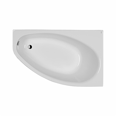 ELIPSO asymmetrical bathtub 150 x 100 cm, right + legs SN7