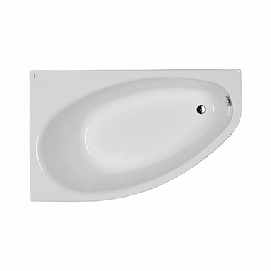 ELIPSO asymmetrical bathtub 150 x 100 cm, left + legs SN7